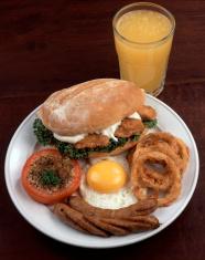 Chicken Burger Breakfast