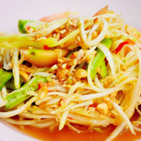 Papaya salad or Sum-Tam, Thai spicy cuisine