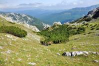 Limestone cliffs in Retezat mountain, Romania