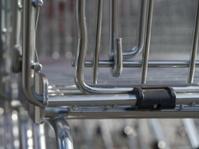 modern scaffold metal reflection