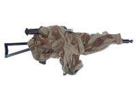 camouflaged kalashnikov AK with sniper scope