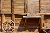 Old western theme scene