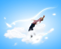 Man evades light