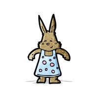 cartoon cute little rabbit