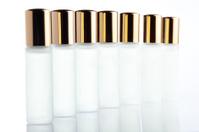 little parfume bottle on white background