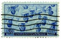 U. S. Navy Sailors on Postage Stamp