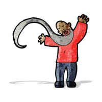cartoon man with long beard
