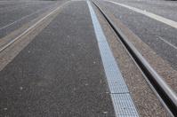 Tram Tracks on Street, Dublin