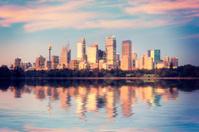 Sydney Skyline Sunrise Square Australia