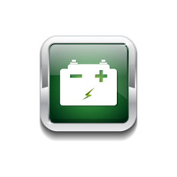 Battery Green Vector Icon Button