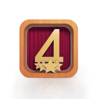 Graphic illustration icon with number four