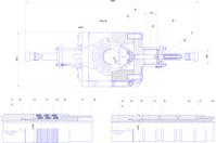 Engineering drawing of industrial equipment