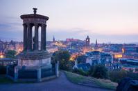 Edinburgh city from Calton Hill at night, Scotland, UK