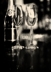 Abstract Champagne flutes