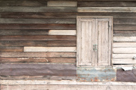 Old wood wall with window for background.
