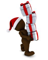 Morph Man with christmas gifts