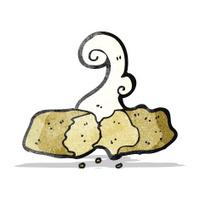 hot bread cartoon