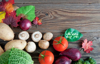 Organic autumn groceries