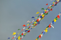 Buddhist Tibetan prayer flags