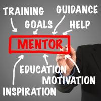 Business man hand writing - Mentor concept