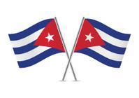 Cuban flags. Vector.