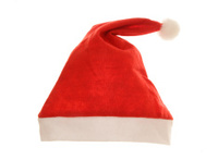 isolated christmas santa hat