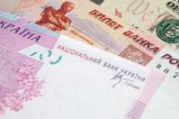 Russian Ruble, American dollars and Ukrainian hryvnia