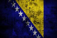grunge flag of Bosnia and Herzegovina with capital in Sarajevo