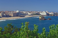 Biarritz - Seaside, view down to the grande plage