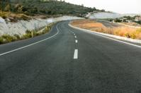 curvy clean asphalt road