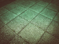 Retro look Concrete sidewalk pavement