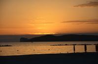 sunset on alghero beach