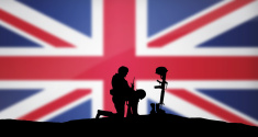 Remenbrance Day Soldier and British Flag