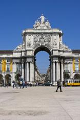 The Arc at Place de Commerce in Lisbon Portugal