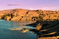 Scenic Lake at Sunset
