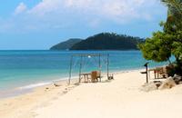 tropical beach on a sunny afternoon
