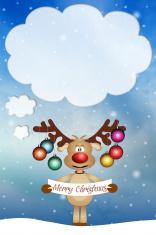 Funny reindeer for Christmas