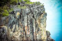 limestone island on the sky background