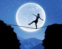 Woman on edge