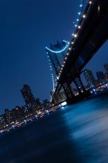 Bridge in New York at Night