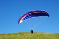 Paraglider take off