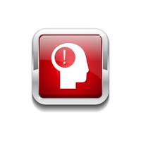 Idea Red Vector Icon Button