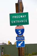 Freeway Entrance Sign