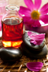 essential oil for aromatherapy and Zen Stones