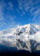 deep blue sea in antarctica