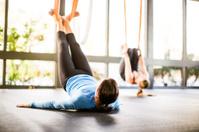 Antigravity Yoga Woman in Class