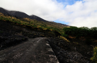 Traversing a volcanic  Mountain