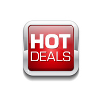 Hot Deals Red Vector Icon Button