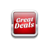 Great Deals Red Vector Icon Button