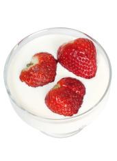 Milk and strawberries